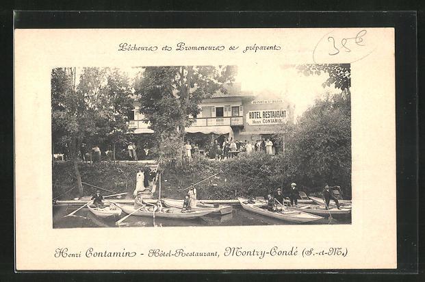 Präge-AK Montry-Conde, Henri Contamin, Hotel-Restaurant