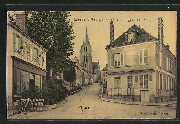 AK Lorrez-le-Bocage, L`Eglise et la Poste