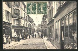 AK Lagny, Rue du Chemin de Fer, Strassenpartie