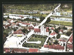AK Marolles-sur-Seine, Vue aerienne, Centre dela Ville
