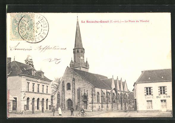 AK La Bazoche-Gouet, La Place Marchè