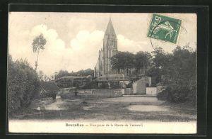 AK Brezolles, Vue prise de la Route de Verneuil