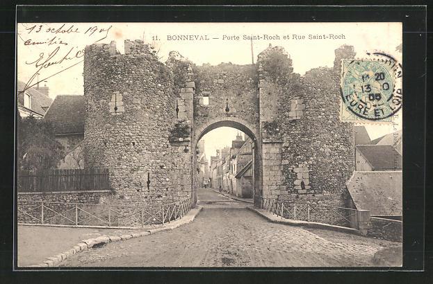 AK Bonneval, Porte Saint-Roch et Rue Saint Roch