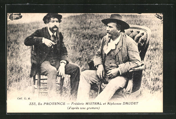AK Frederic Mistral und Alphonse Daudet