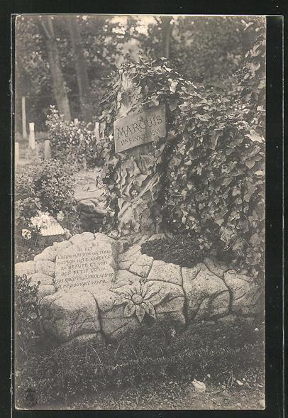 AK Friedhof, Grabstein für einen Hund 0