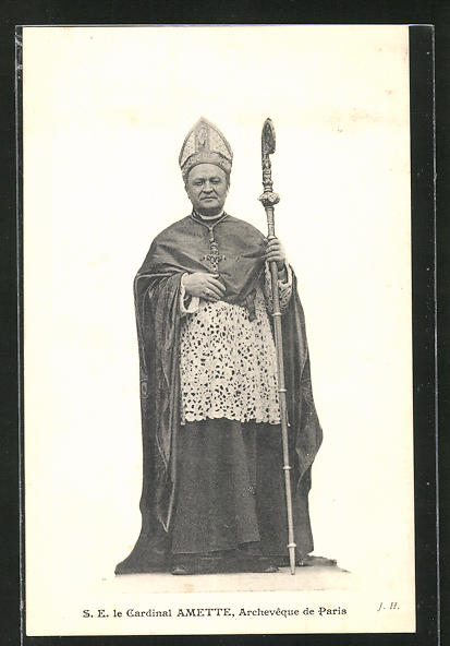 AK Paris, Cardinal Amette mit Hirtenstab 0
