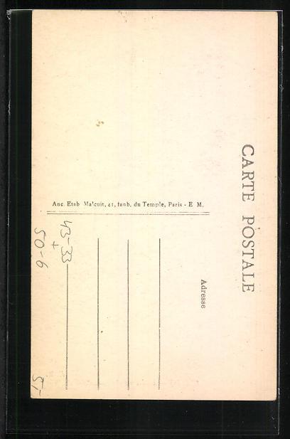 AK Asnières-Clichy, Intérieur du Cimetière des Chiens, Grabstein auf einem Hunde-Friedhof 1