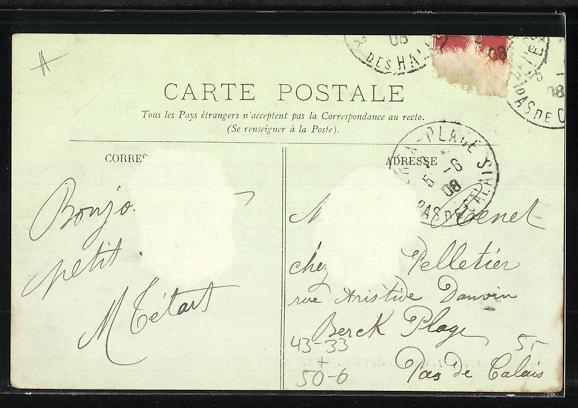 AK Paris, Cimetière des Chiens, Grabsteine auf einem Hunde-Friedhof 1