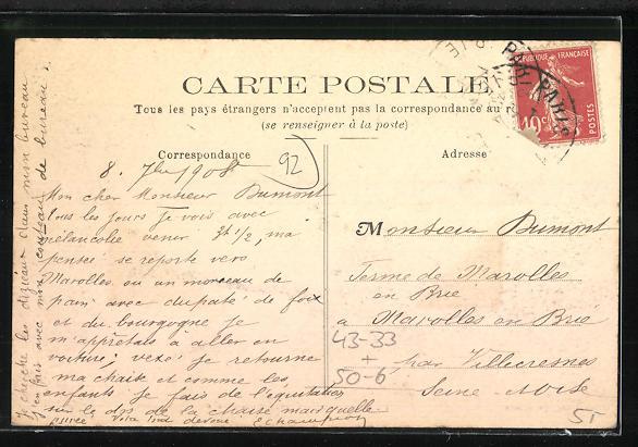AK Asnières, Cimetière des Chiens, Grab auf einem Hunde-Friedhof 1