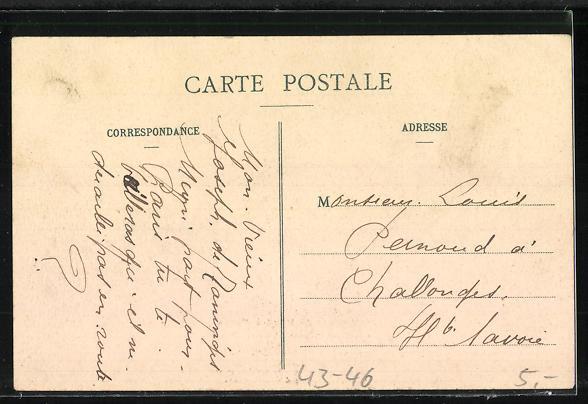 AK Paris, Voyage de Mimi, Reisender spricht mit anderen Männern 1