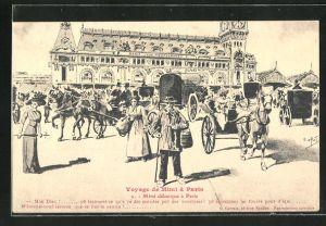 AK Paris, Voyage de Mimi, Mimi débarque à Paris