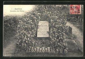 AK Asnières, Cimetière des Chiens, Grabstelle auf dem Hunde-Friedhof