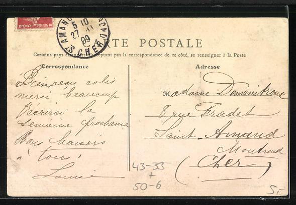 AK Asnières, Cimetière des Chiens, Grabstelle auf dem Hunde-Friedhof 1