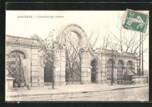 AK Asnières, Cimetière des Chiens, Eingang zum Hunde-Friedhof