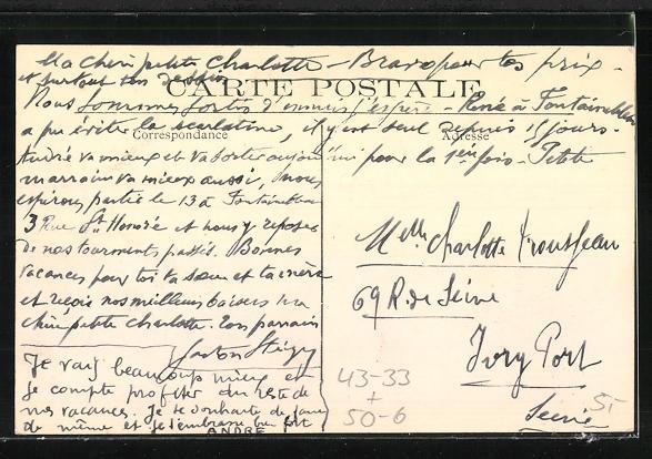 AK Asnières-Clichy, Cimetière des Chiens, Allée principale, Blick auf den Hunde-Friedhof 1
