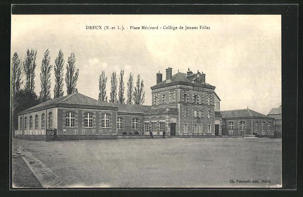 AK Dreux, Place Mezirard, College de Jeunes Filles