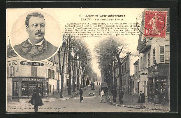 AK Dreux, Boulevard Louis Terrier 0