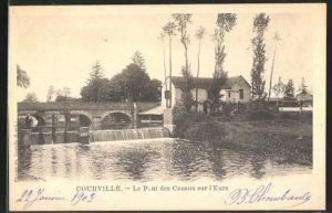 AK Courville, Le Pont des Canaux sur l`Eure