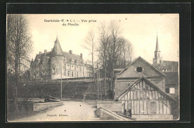 AK Courtalain, Vue prise du Moulin