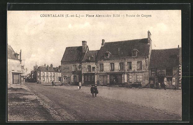 AK Courtalain, Place Alexandre Rille et Route de Cloyes 0