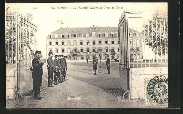 AK Chartres, Le Quartier Neigre, le Corps de Garde 0