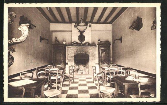 AK Cloyes, Hotel Saint-Jacques, Petite Salle et Bar, Innenansicht