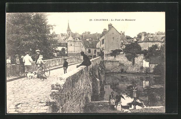 AK Chartres, Le Pont du Massacre 0
