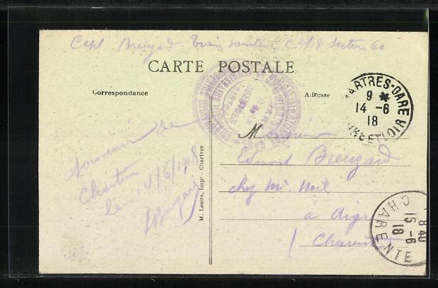 AK Chartres, Le Pont du Massacre 1