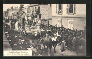 AK Chartres, Cavalcade, Char de la Reine des Reines