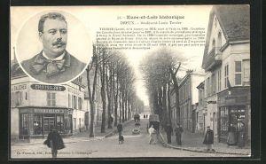 AK Dreux, Boulevard Louis Terrier, Terrier 1854-1895