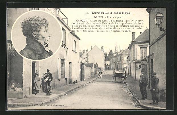 AK Dreux, Rue Marquis, Marquis Alexandre-Louis