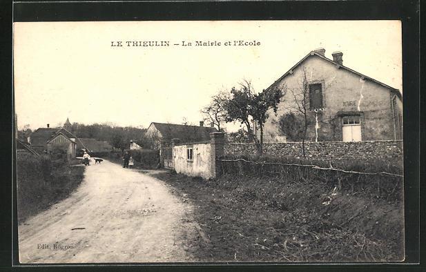 AK Thieulin, la Mairie et l`ecole 0