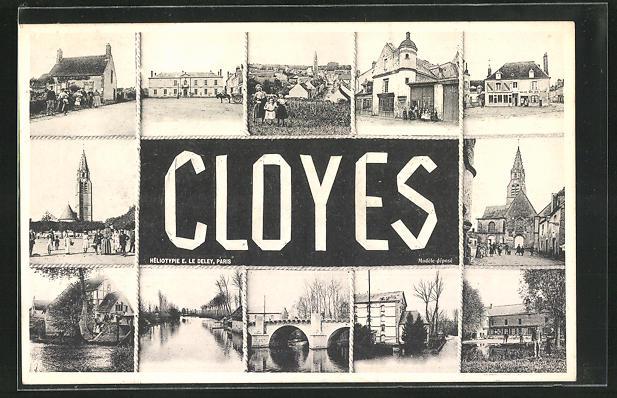 AK Cloyes, Ortsansichten 0