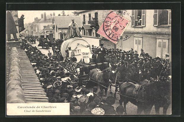AK Chartres, Cavalcade de Chartres, Char de Gambrinus 0
