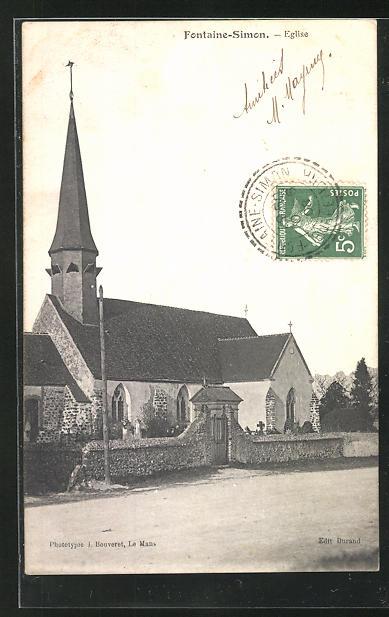 AK Fontaine-Simon, Eglise, Ansicht der Kirche 0
