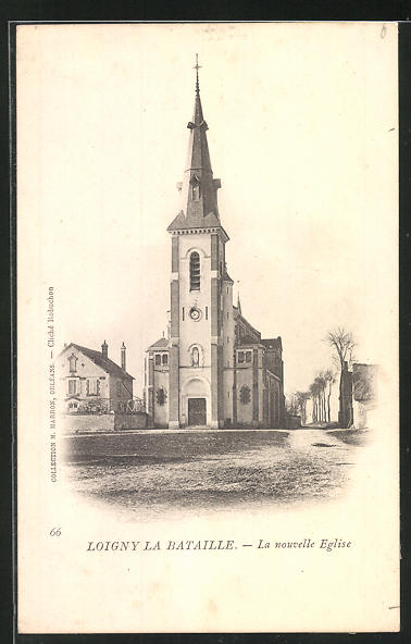 AK Loigny la Bataille, La nouvelle Eglise, Ansicht der Kirche 0