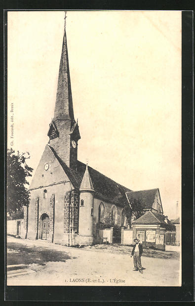 AK Laons, L`Église, Ansicht der Kirche