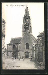 AK Cloyes, L`Eglise, Ansicht der Kirche