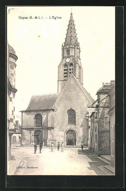 AK Cloyes, L`Eglise, Blick zur Kirche 0