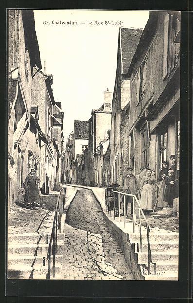 AK Chateaudun, La Rue St-Lubin