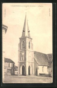 AK Champrond-en-Gatine, L`Église, Ansicht der Kirche