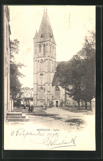 AK Brezolles, Eglise, Blick zur Kirche 0