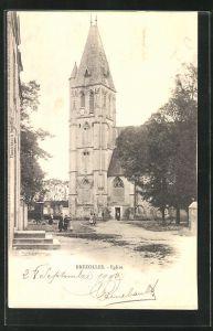 AK Brezolles, Eglise, Blick zur Kirche