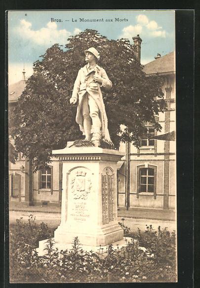 AK Brou, Le Monument aux Morts