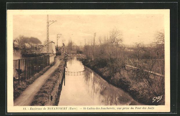 AK St.-Lubin-des-Joncherets, Vue prise de Pont des Juifs 0
