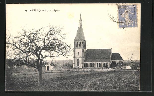 AK Anet, Ausblick auf die Kirche 0