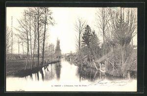 AK Brou, L`Ozanne, vue du Pont