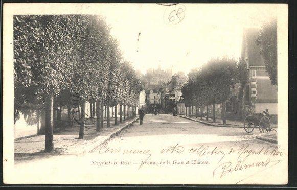 AK Nogent-le-Roi, Vue du Chateau, Avenue de la Gare 0