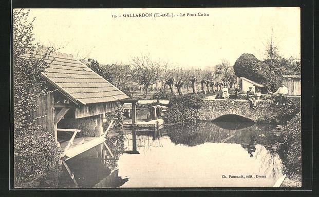 AK Gallardon, Le Pont Colin 0