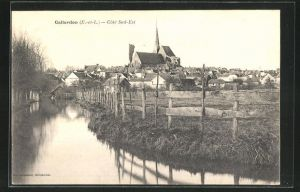 AK Gallardon, Ortsansicht mit Kirche